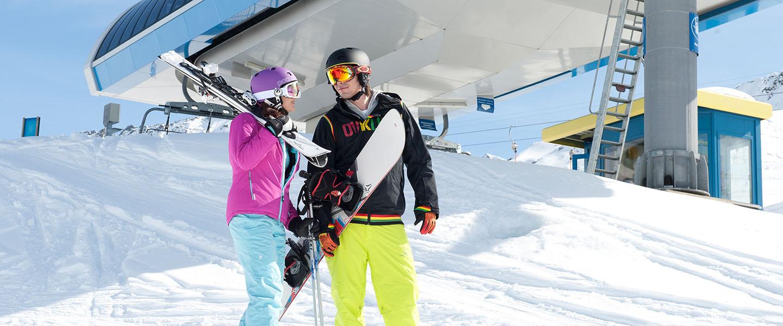 Skifahren </br> & Snowboarden
